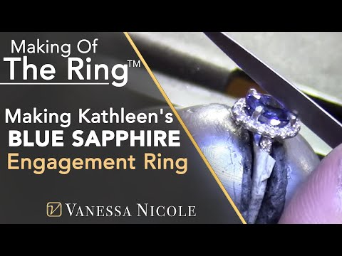 Oval Blue Sapphire Engagement Ring - Making Kathleen's Sapphire Ring - Vanessa Nicole Jewels