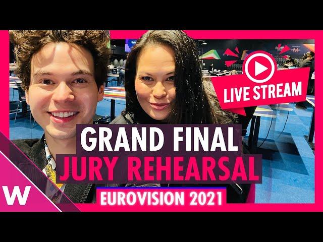 Eurovision 2021: Grand final jury rehearsal livestream