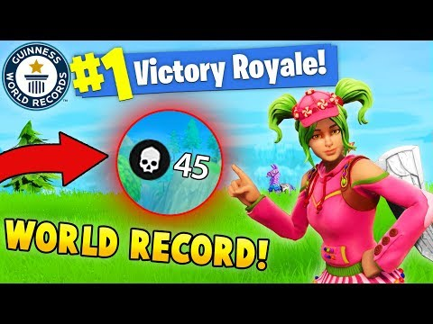 45 KILLS BY 1 PLAYER!! *NEW WORLD RECORD! (Fortnite FAILS & WINS #8)