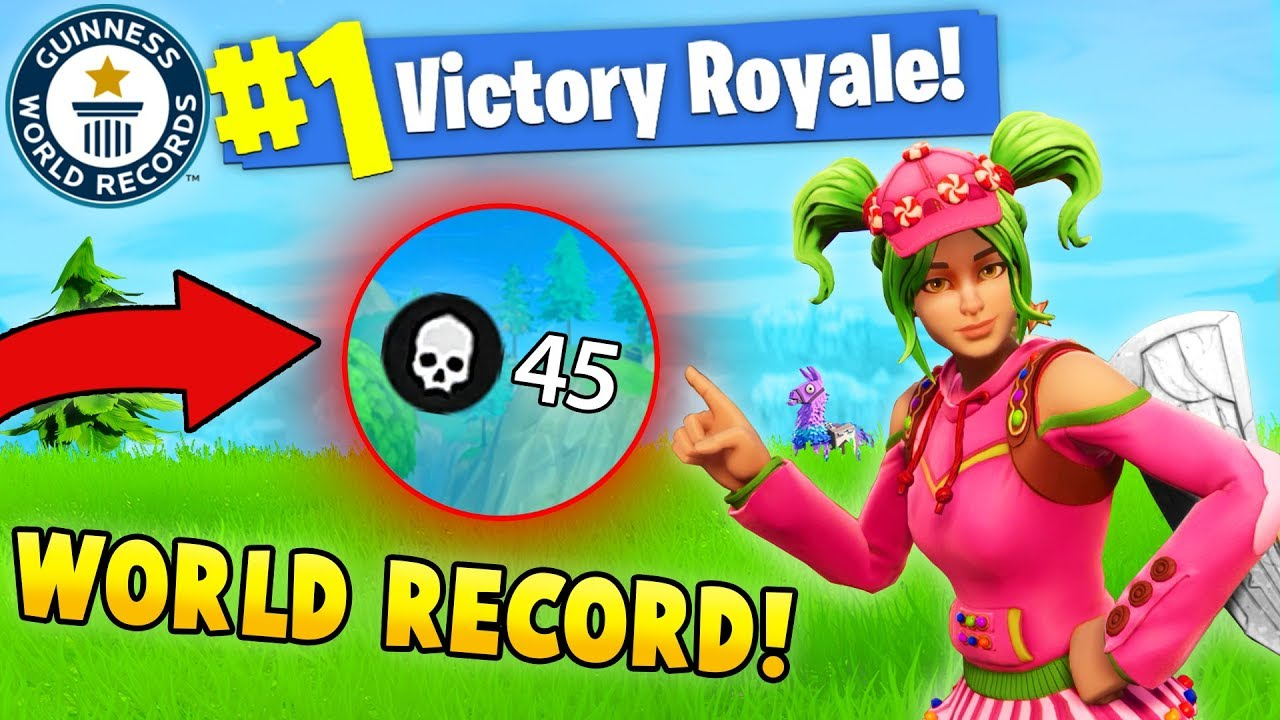 45 Kills By 1 Player New World Record Fortnite Fails Wins 8