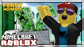 WE BROKE ROBLOX | Minecraft In Roblox (Lustige Momente)