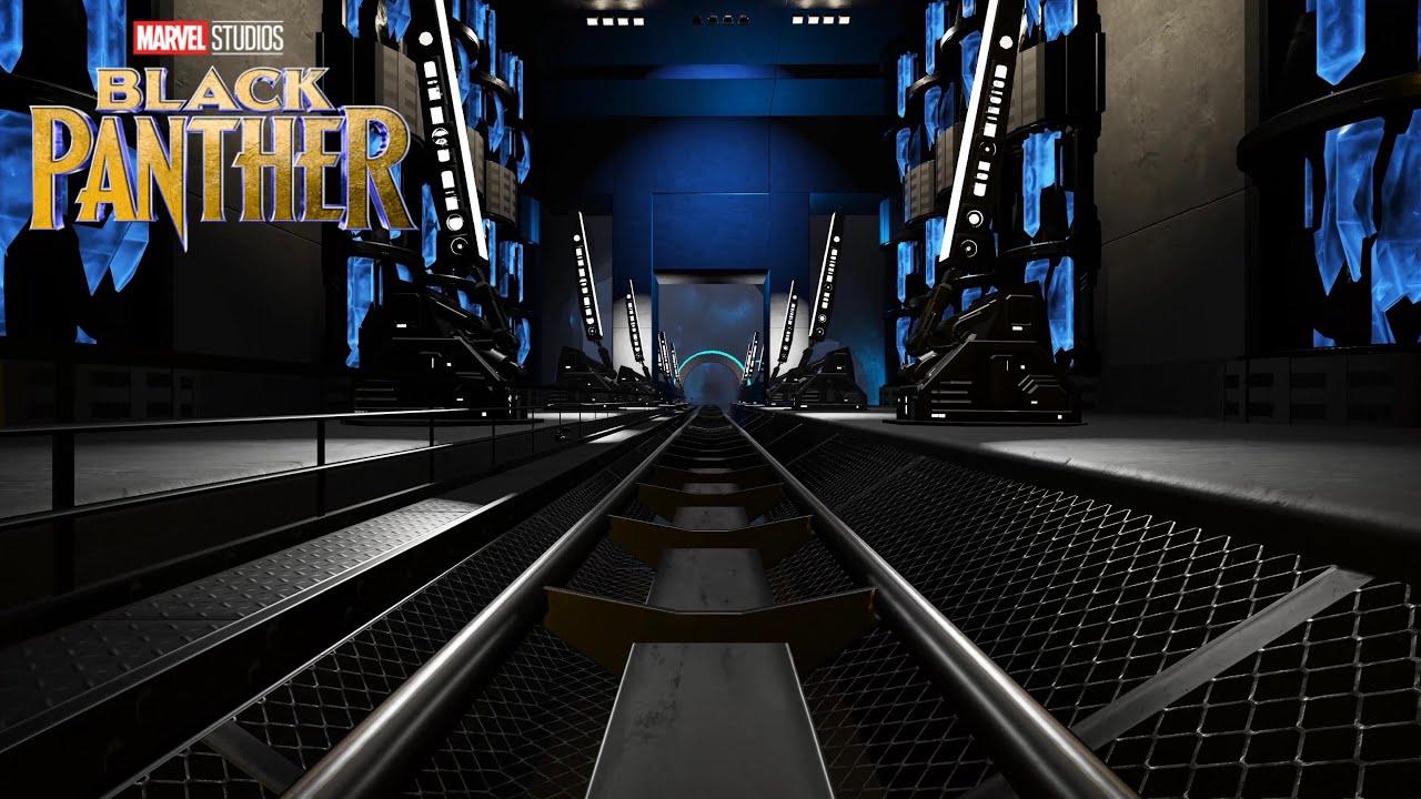 "【Disney】プラネットコースター ジェットコースター「ブラックパンサー・ワカンダ」/""Black Panther WAKANDA"" Roller coaster at Planet Coaster"