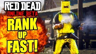 REACH LEVEL 60 EASY! HOW TO RANK UP FAST Red Dead Online! Red Dead Level Up Fast Tips and Tricks!