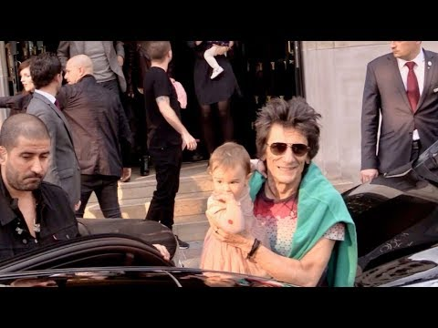 EXCLUSIVE: Rolling Stones Keith Richards, Ronnie Wood, Charlie Watts out of their hotel on their way