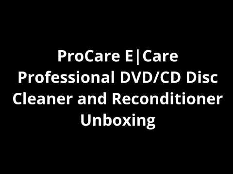 ProCare E|Care Professional DVD/CD Disc Cleaner and Reconditioner Unboxing