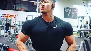 FULL DAY OF EATING 13 WEEKS OUT W/ STEVEN CAO | SHOULDER WORKOUT