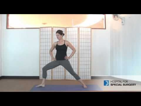 warrior 2 yoga pose for hips quads hamstrings  core