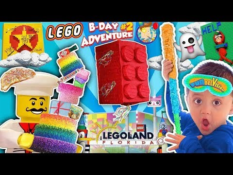 LEGOLAND GHOST Vs. LEGO MOVIE WORLD? Shawn's 3rd Birthday Adventure Continues #2 (FUNnel Family)