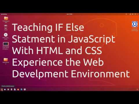 Teaching IF Else Statment in JavaScript With HTML and CSS | Experience the Web Development thumbnail