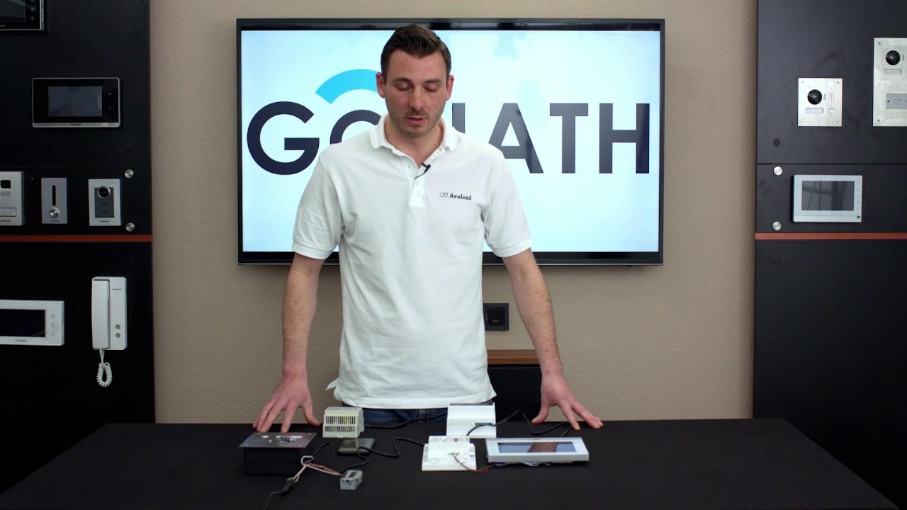 goliath 2-draht ip video türsprechanlage komplettsystem aufbau mit