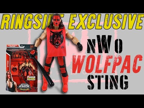 "NWO Wolfpac /""Sting /"" Ringside Exclusive Mattel Toy Wrestling Action Figure"