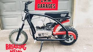 Coleman bt200x flat track mini bike project part 2