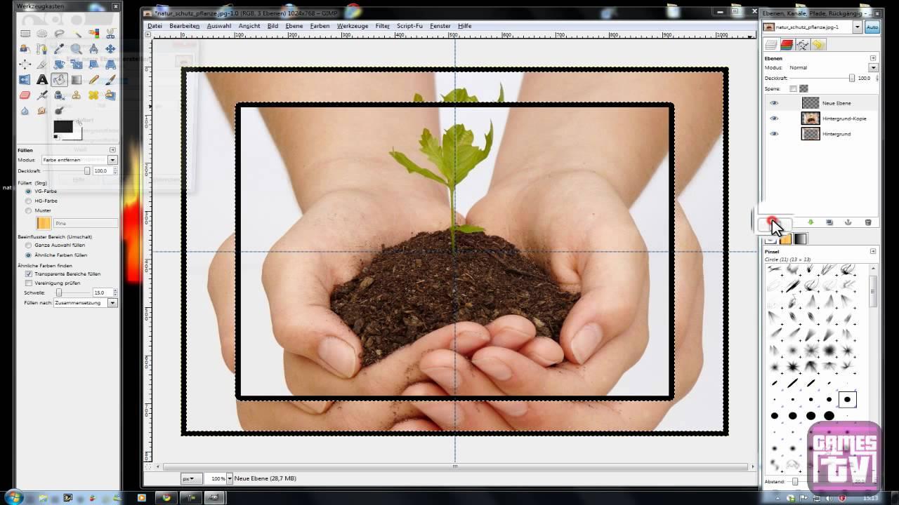 Rahmen erstellen [DE/HD] [Tutorial|Gimp] - YouTube