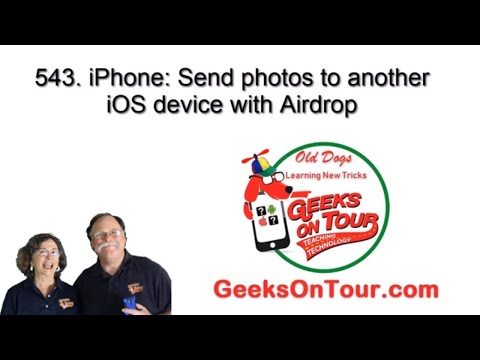 How to send photos using iOS Airdrop for iPhones or iPads 543