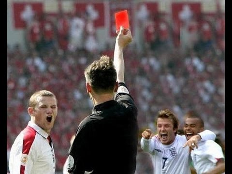 top 10 funny red cards in football history youtube