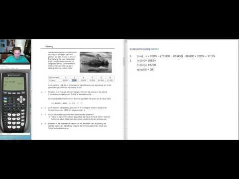 Examentraining VMBO Wiskunde (2016 tijdvak 1 Opgave 1 tot en met 3)