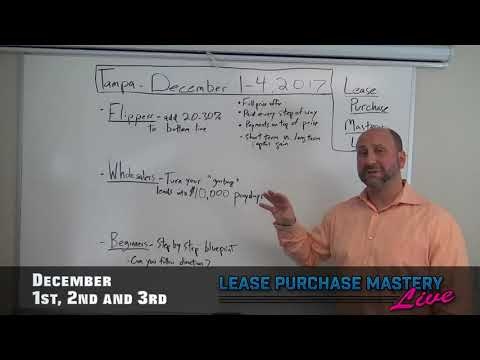 Tampa REIA 3 Day Lease Purchase Mastery LIVE Event on Dec 1-3, 2017 in Tampa, FL