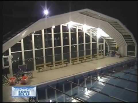 Coperture telescopiche per piscine pubbliche eden blu youtube - Coperture mobili per piscine ...