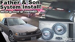 Wired up, Fired up, FINISHED! Father & Son Fun First Car Stereo Install 1990 Honda Accord Video 5