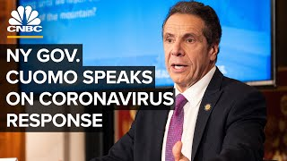 New York Gov. Andrew Cuomo holds a briefing on the coronavirus outbreak - 5/18/2020