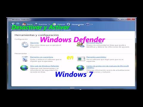 Desactivar y activar windows defender en windows 7