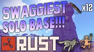 EASIEST Solo Base! | (Built In Sections!!!) | Rust Base Building