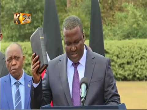 Cabinet Secretary for Petroleum and mining John Munyes takes oath office