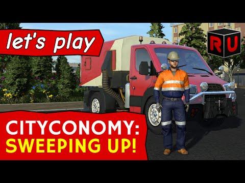Cityconomy street sweeper job: Moving beyond bins! [PC Let's Play/English]
