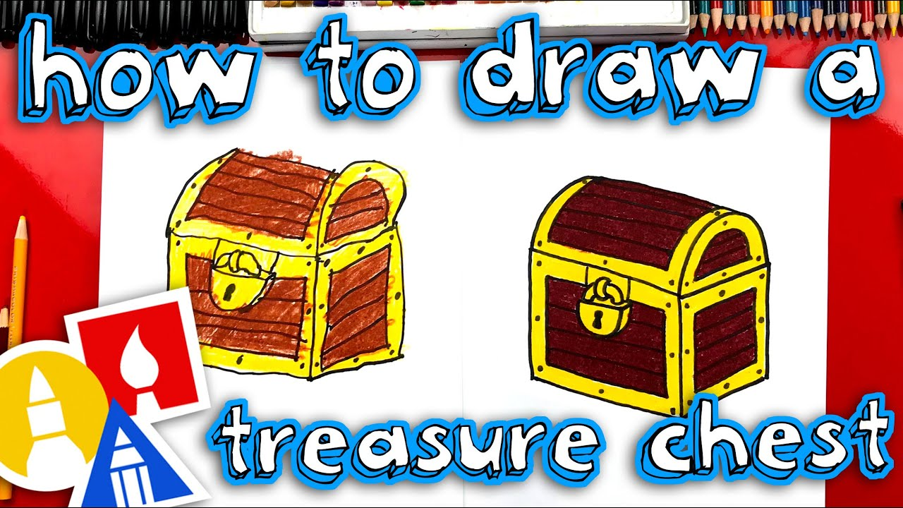 How To Draw A Treasure Chest Parallel Lines Youtube