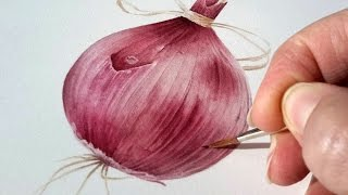 How to Paint an Onion Veggiebauble | Jarnie Godwin Art