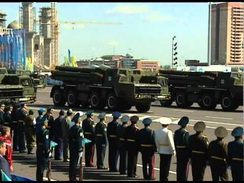 Military parade dedicated to Constitution Day of Kazakhstan
