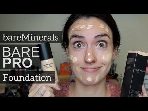 Bare Minerals BarePRO Foundation - First Impression + Wear Test - 동영상
