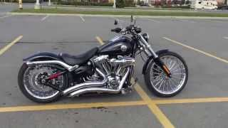 Harley Breakout Custom Air Ride Exhaust Sound