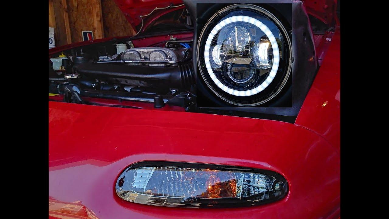 jeep gladiator wrangler headlights on a miata full led. Black Bedroom Furniture Sets. Home Design Ideas