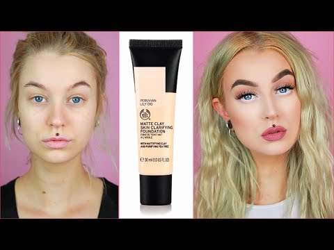 NEW & VEGAN! The Body Shop Matte Clay Clarifying Foundation | Wear Test, First Impression