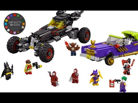 The Lego Batman Movie Batmobile (70905) & Joker's Notorious Lowrider (70906) sets 2017 - REVEALED