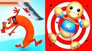 Run Sausage Run! NEW SKIN Super Hero vs Kick The Buddy Funny Games For Kids