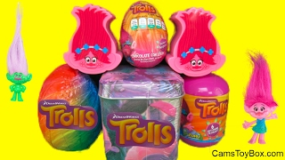 Dreamworks Trolls Toys Blind Bags Series 2 Chocolate Egg Surprise Tins Box Capsule Toy Surprises
