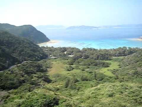渡嘉敷島の高台からのパノラマ風景