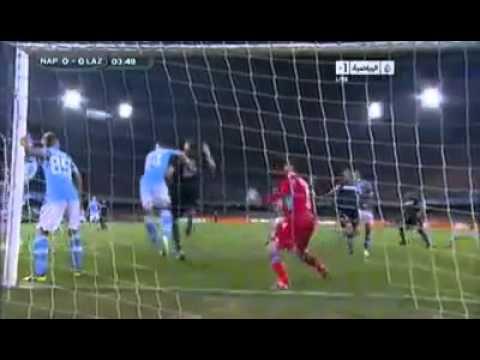 Klose EPIC MOMENT REFUSE HANDBALL GOAL Napoli 3 0 Lazio ...