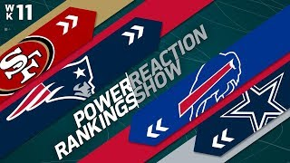 Power Rankings Week 11 Reaction Show: Are the Steelers Overrated? | NFL Network