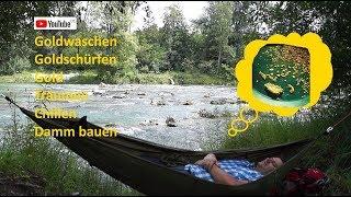 10 Tipps für Anfänger  Goldwaschen in Deutschland Goldschürfen (27)  Dammbau von Goldjunge