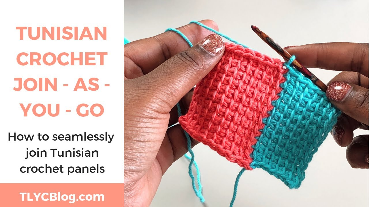 How to Join As You Go in Tunisian Crochet *SEAMLESSLY ADD PANELS WITH THESE TIPS*