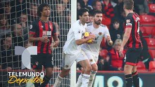 La humildad de Raúl Jiménez: le preguntan sobre su gol y alaba a su equipo | Telemundo Deportes