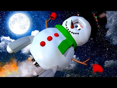 Rocky, o foguete, é um boneco de neve! Oficina de Pintura do Tom - Desenhos animados para criança...