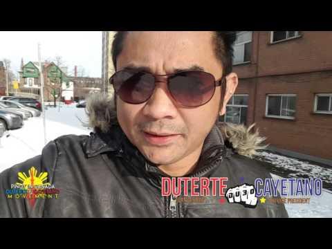 DUTERTE CAYETANO in Toronto Canada Movement Flyers Distribution 1