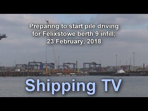 Preparing to start pile driving, 23 Feb 2018