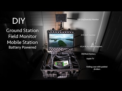 DIY 21.5 Inch Field Monitor Mounted In Case - Ground Station