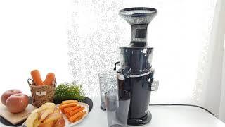 휴롬 디바S 원액기로 사과당근주스 만들기