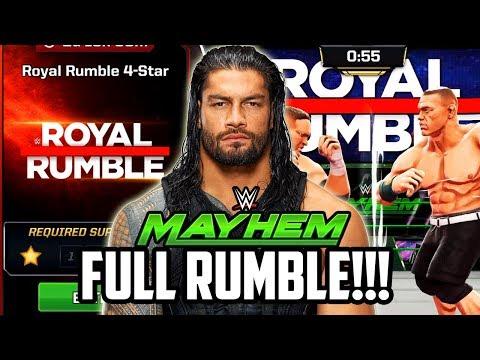 WWE MAYHEM NEW ROYAL RUMBLE MODE IS HERE! AMAZING REWARDS!!!
